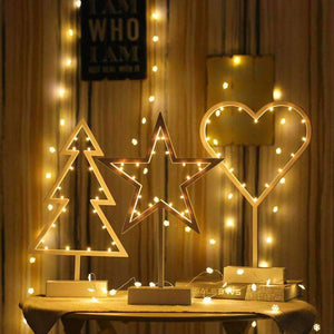 Romantic Shapes LED String Holiday Light With Holder