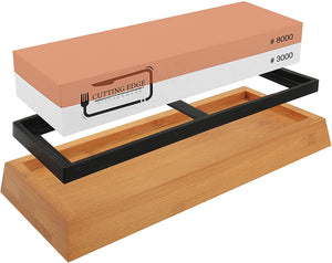 Whetstone Knife Sharpener 3000/8000 - Premium Chef Knife Sharpening Stone
