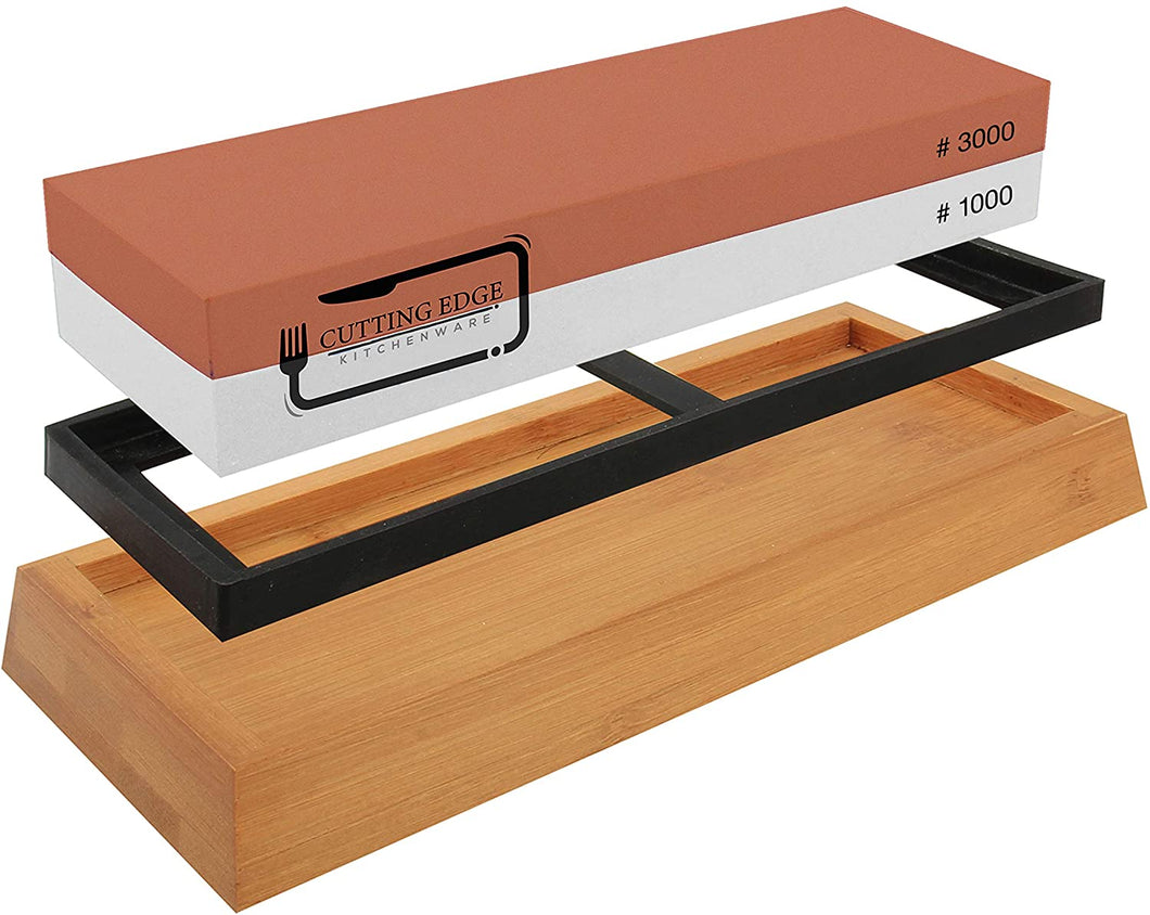 Whetstone Knife Sharpener 1000/3000 - Premium Chef Knife Sharpening Stone