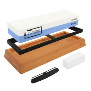 Whetstone Knife Sharpener 1000/6000 - Premium Chef Knife Sharpening Stone