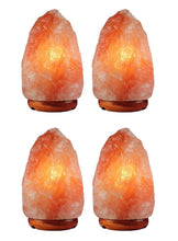 Load image into Gallery viewer, 4 Pack Natural Himalayan Salt Lamp, 3-6 lbs