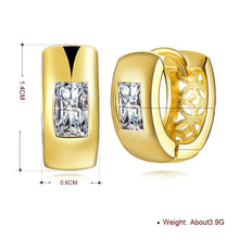 Load image into Gallery viewer, Huggie Earring in 18K Gold Plated with Swarovski Crystals