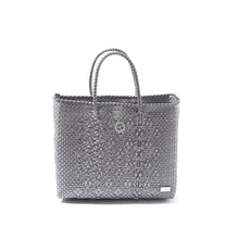 Load image into Gallery viewer, SMALL SILVER TOTE BAG