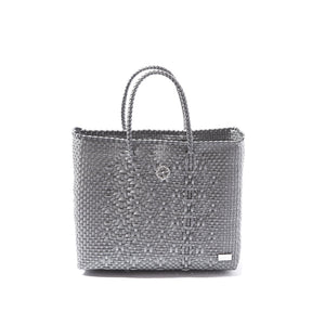 SMALL SILVER TOTE BAG