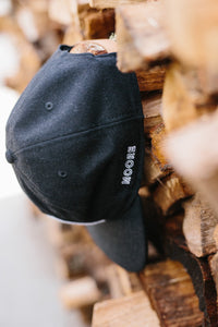 Black Flannel Tent Hat