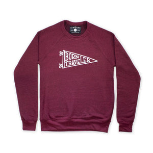 Born Traveler Crewneck Crimson