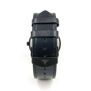 Inverness Multi Bamboo Black Leather Men's Watch