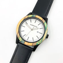 Load image into Gallery viewer, Inverness Multi Bamboo Black Leather Men's Watch