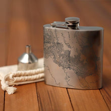 Load image into Gallery viewer, Grand Canyon National Park Arizona Map Hip Flask