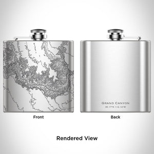 Grand Canyon National Park Arizona Map Hip Flask