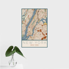 Load image into Gallery viewer, New York Map Print in Woodblock