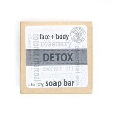 Load image into Gallery viewer, Aromatheraphy Detox Coconut Charcoal Face & Vegan Body Soap