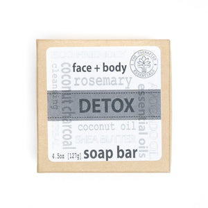 Aromatheraphy Detox Coconut Charcoal Face & Vegan Body Soap