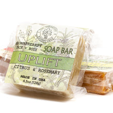 Load image into Gallery viewer, Aromatheraphy Uplift Citrus & Rosemary Face & Vegan Body Soap