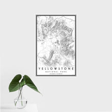 Load image into Gallery viewer, Yellowstone National Park Wyoming Classic Map Print