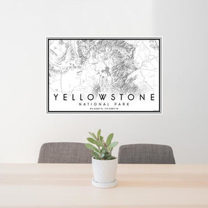Yellowstone National Park Wyoming Classic Map Print