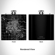 Load image into Gallery viewer, Yuma Arizona Map Hip Flask in Matte Black