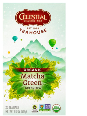 Seasonings Teahouse Organic Matcha Green Tea, 20 Count Box