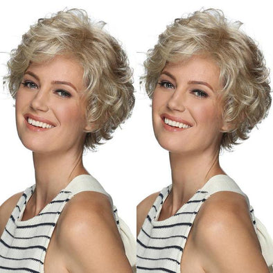 2021 New Light Gold Roll Short Wig