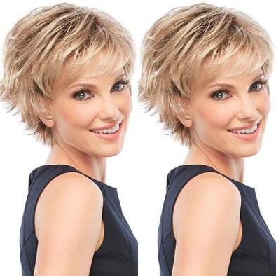 2021 Stunning Gold Short Wig