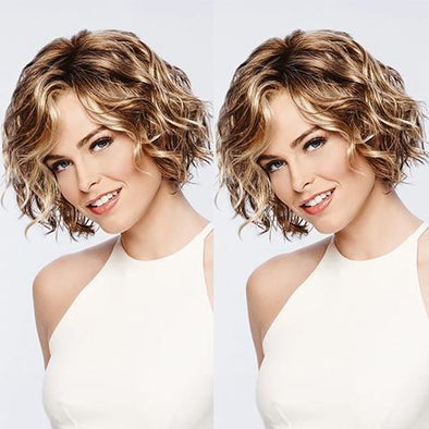 2021 New Brown Gold BOB Short Wig