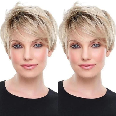 2021 New Gradient Gold Short Wig