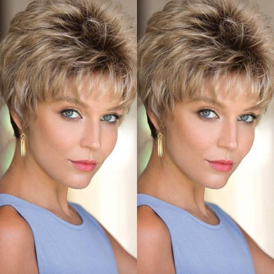 2021 New Charming Gold Short Wig