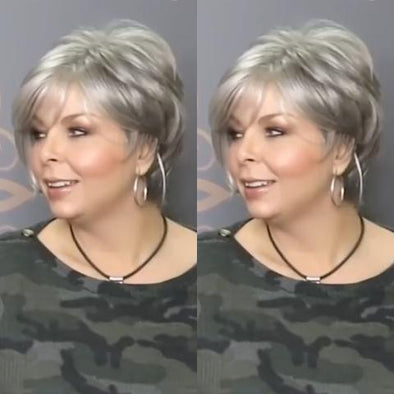 2021 Fashion Silver Grey Short Wig