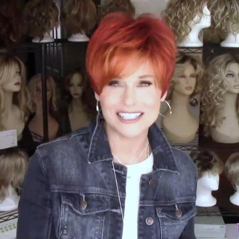 Temperament Red Short Wig