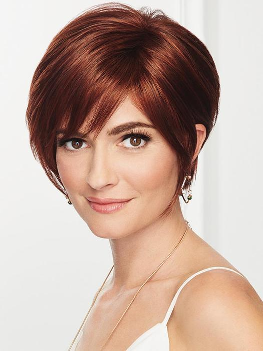 Romantic Red Brown Short Wig