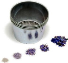 Load image into Gallery viewer, 4 piece glass frit sifter set for powder, fine, medium and coarse frit