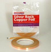 3/16 Silver Back Copper Foil / 3M Venture Tape