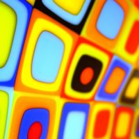 Load image into Gallery viewer, colourful stacks of fused glass