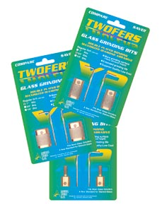 "3/4"" Twofers Glass Grinding Bits, 170, Medium Grit"