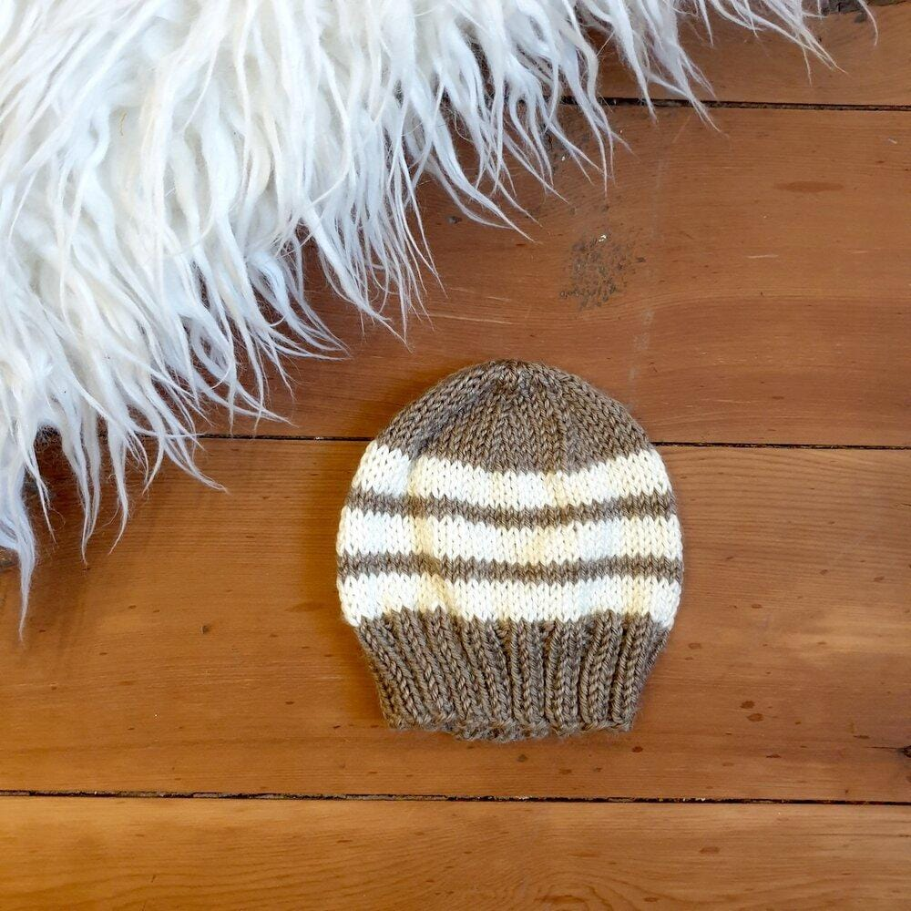 Newborn handmade beanies (multiple colours) - Hatchling NZ