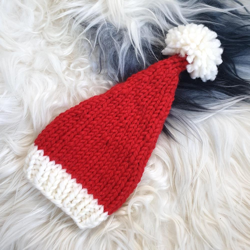 Knitted Santa Hat (lambswool) - Hatchling NZ