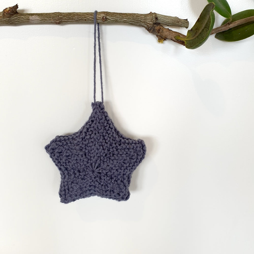 Christmas ornaments: stars and moon