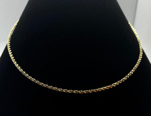 "Rope Chain 18"" Chain Necklace in 14k Gold"
