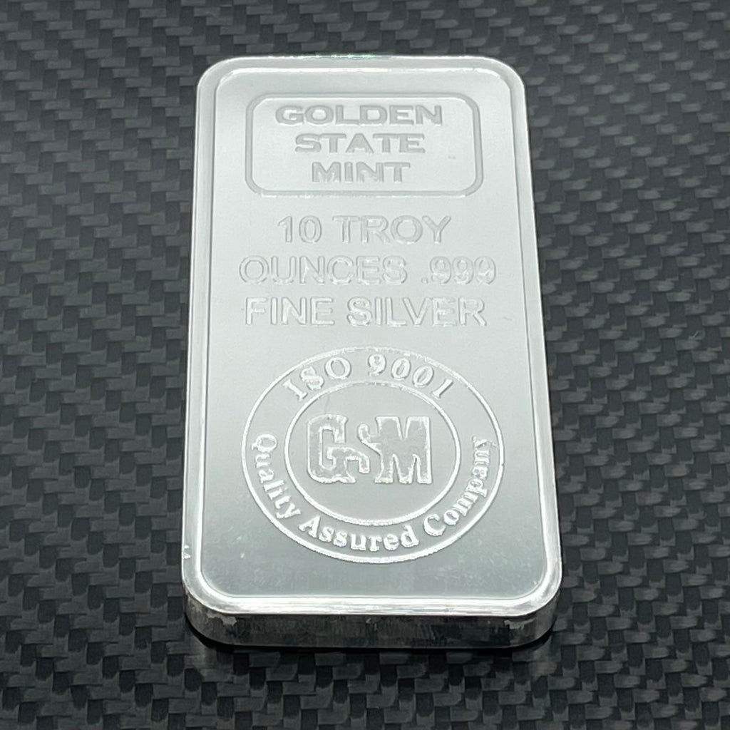 10 oz .999 Fine Silver Bar - Golden State Mint