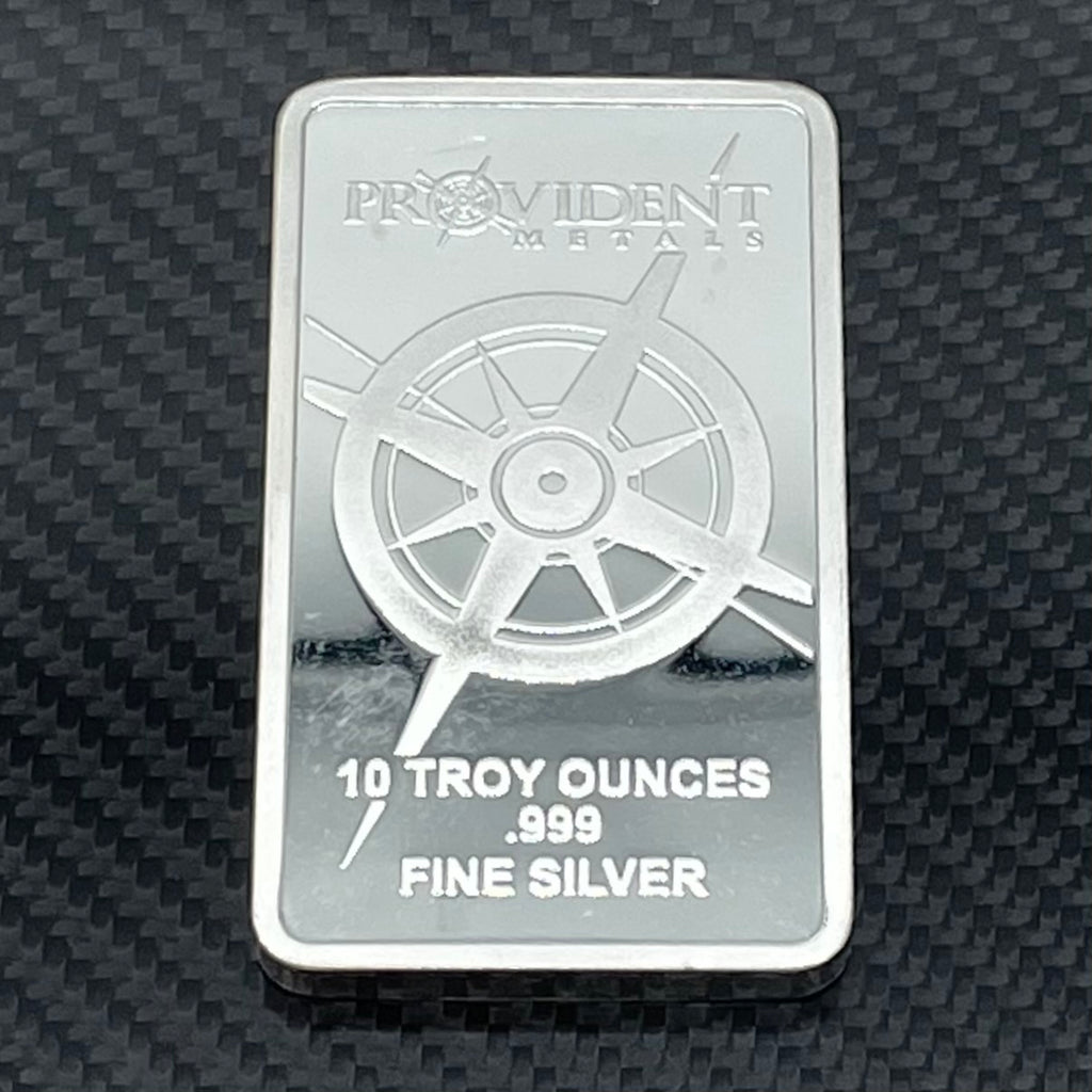 10 oz .999 Fine Silver Bar - Provident Metals