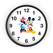 Load image into Gallery viewer, Micky + Minnie Inspired Wall clock