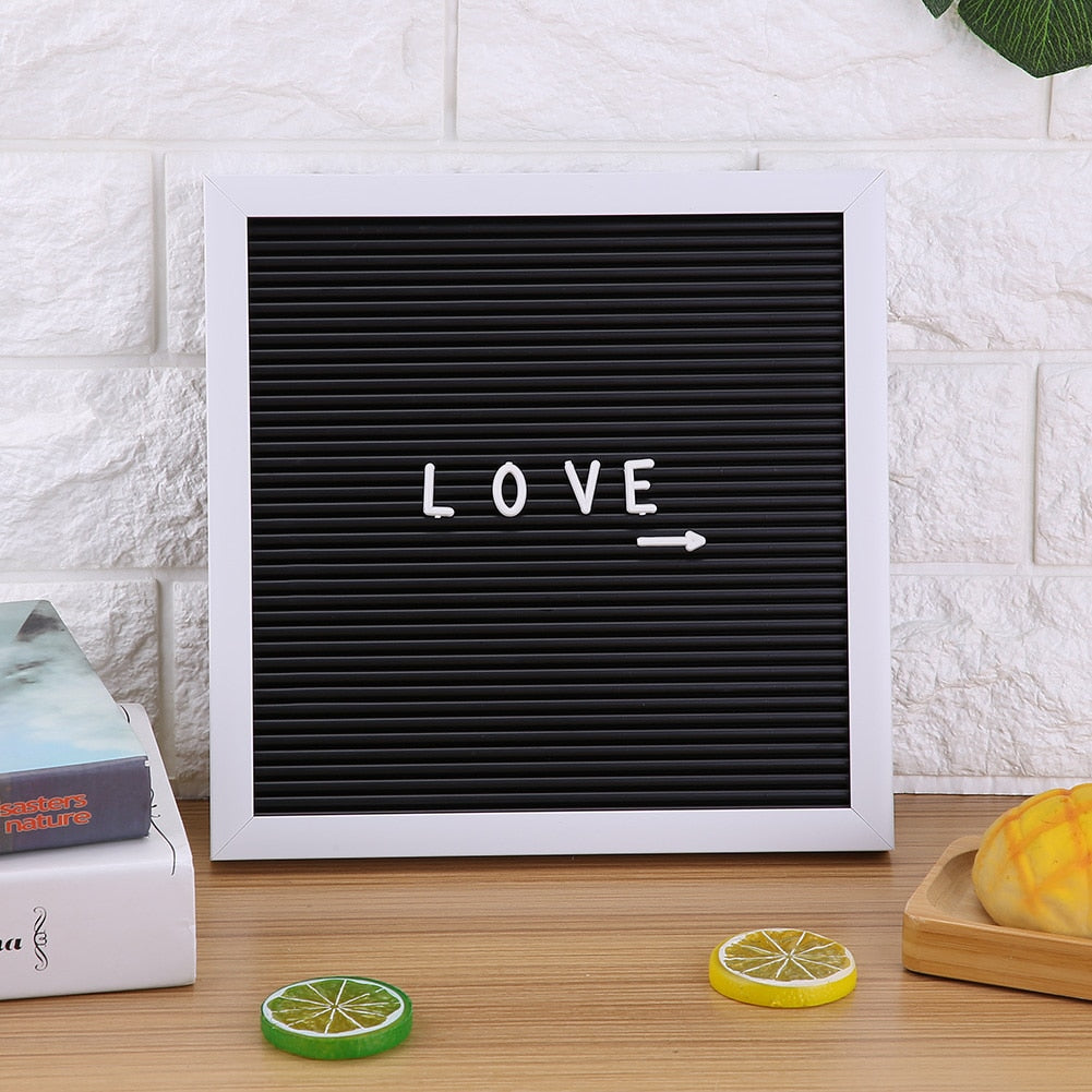 White Frame Message Board