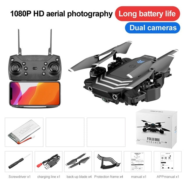 LS11 RC Drone 4K With Camera HD 108 Mini Foldable Dron FPV Wifi Drones