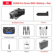Load image into Gallery viewer, Hipac SG906 Pro Drone 4k GPS with Camera 2 axis Gimbal Brushless Profissional 800M Wifi 25Mins RC Dron 4k GPS Drone Quadrocopter