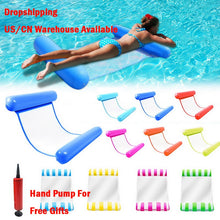 Load image into Gallery viewer, Hot Sale Summer Water Hammock Water Toys Recliner Foldable Inflatable Floating Bed Swimming Pool Floating Swimming Mattress Sea
