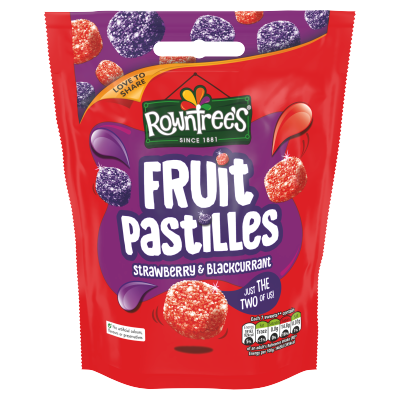 Rowntree's Fruit Pastilles Strawberry & Blackcurrant