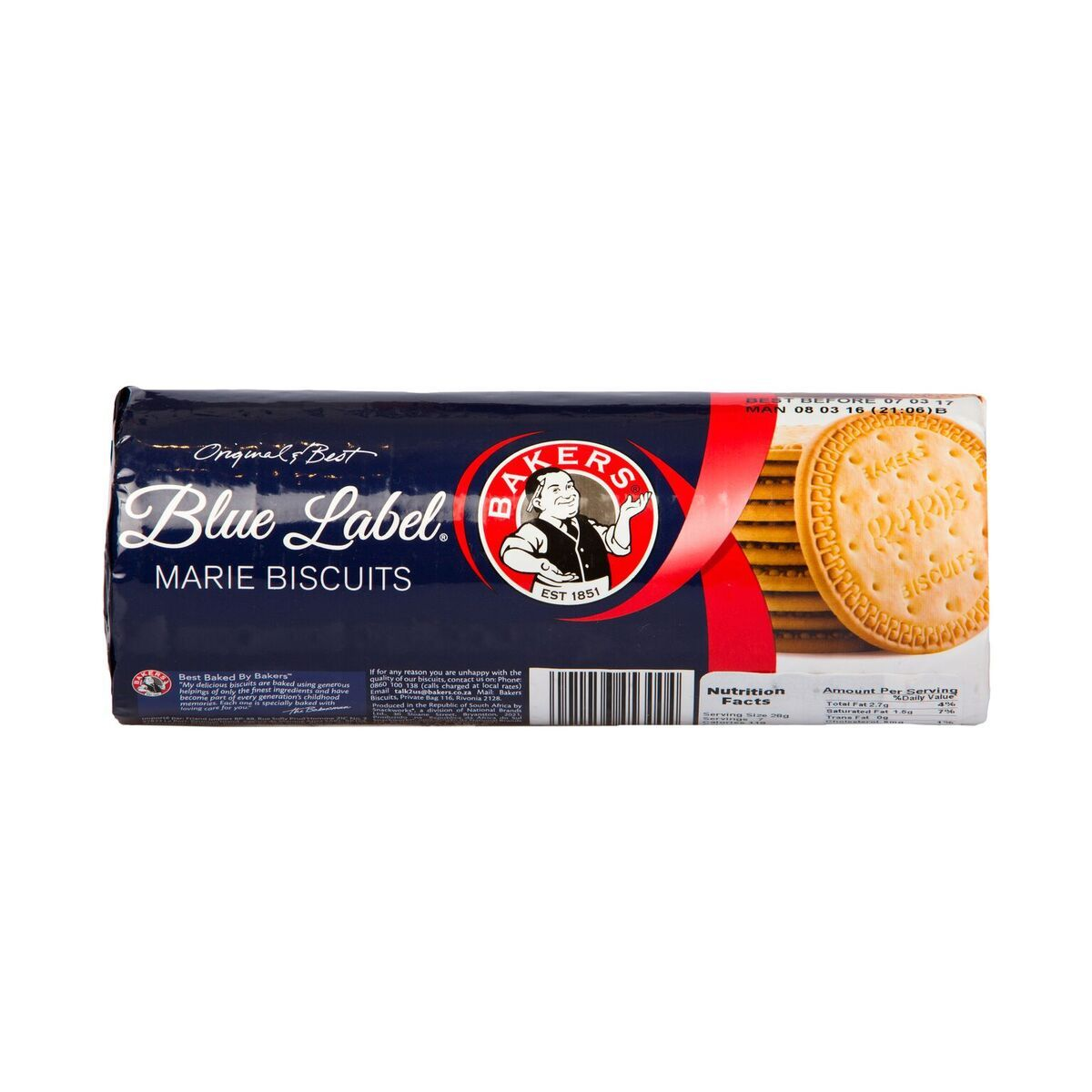 Blue Label Bakers Marie Biscuits