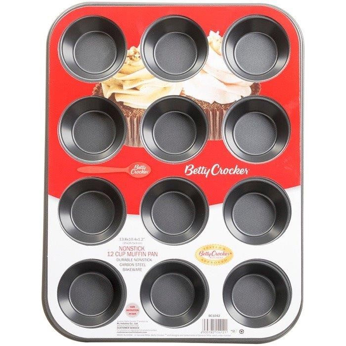 MOLDE PARA MUFFIN BETTY CROCKER, 12 ESPACIOS