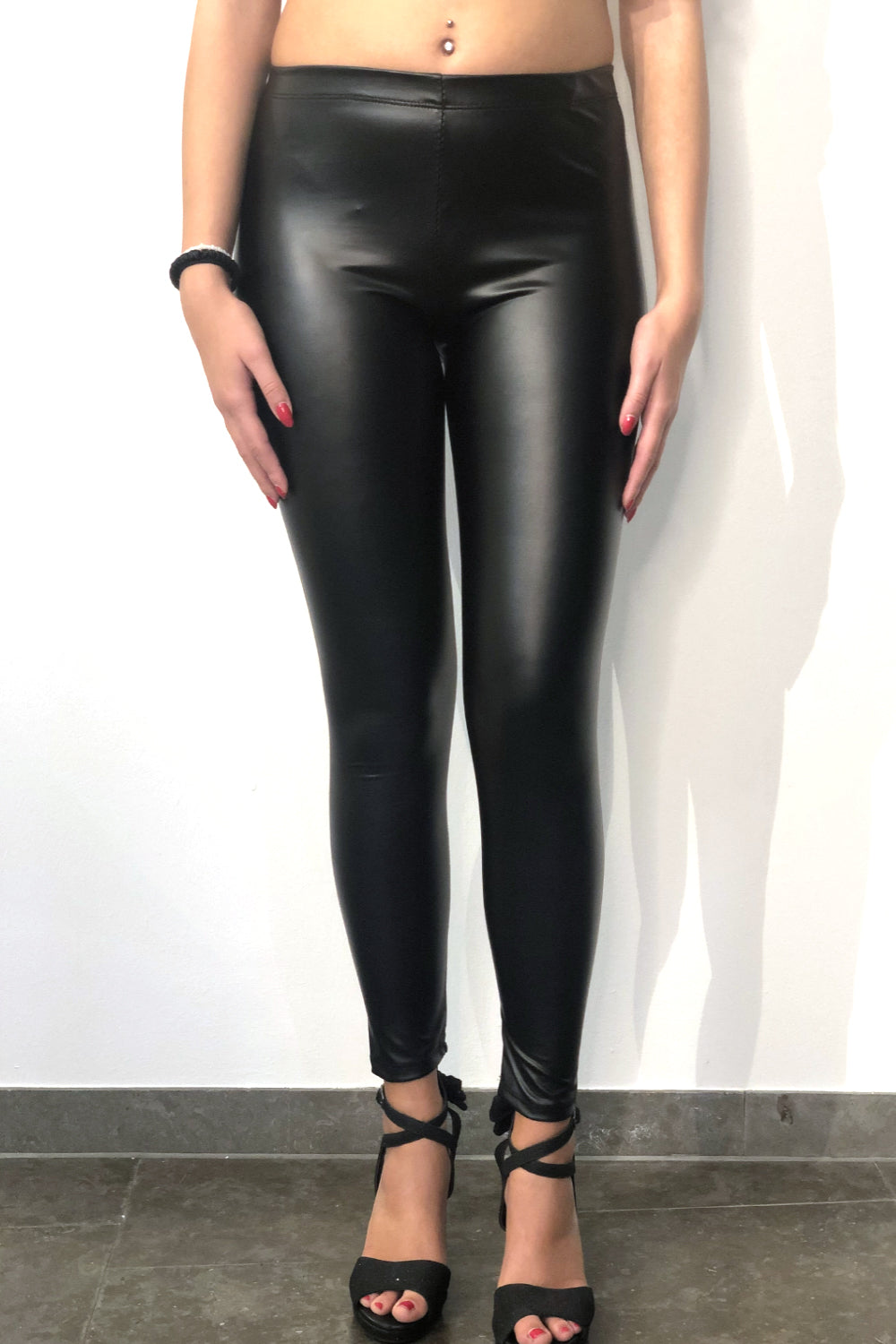 Kunstleder Legging Rock