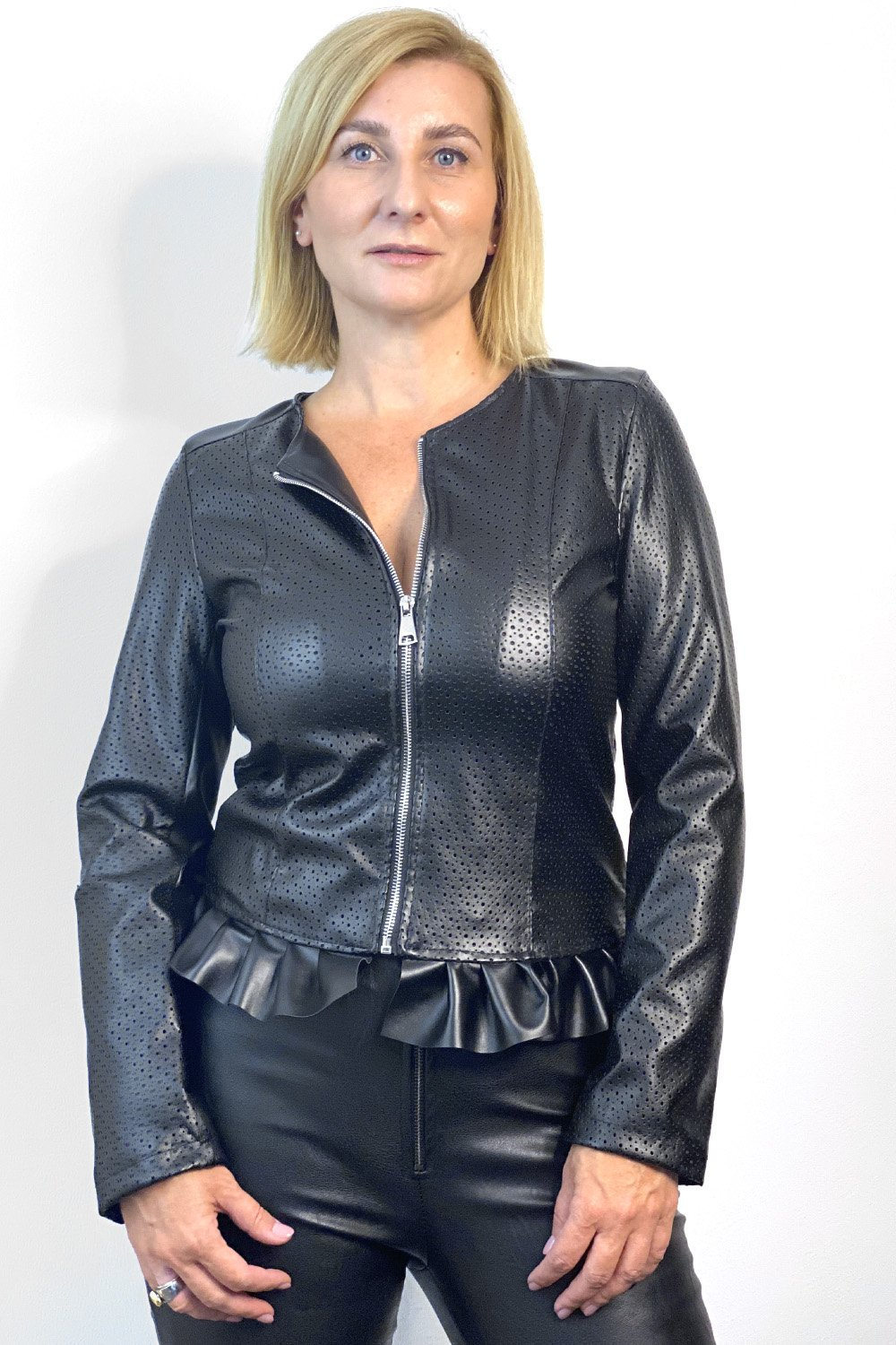 Faux-Leather Jacket Blacky - The Fashionboutique - Colloseum